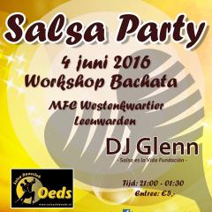 Salsaclub Oeds Leeuwarden. Salsaparty 4 juni 2016